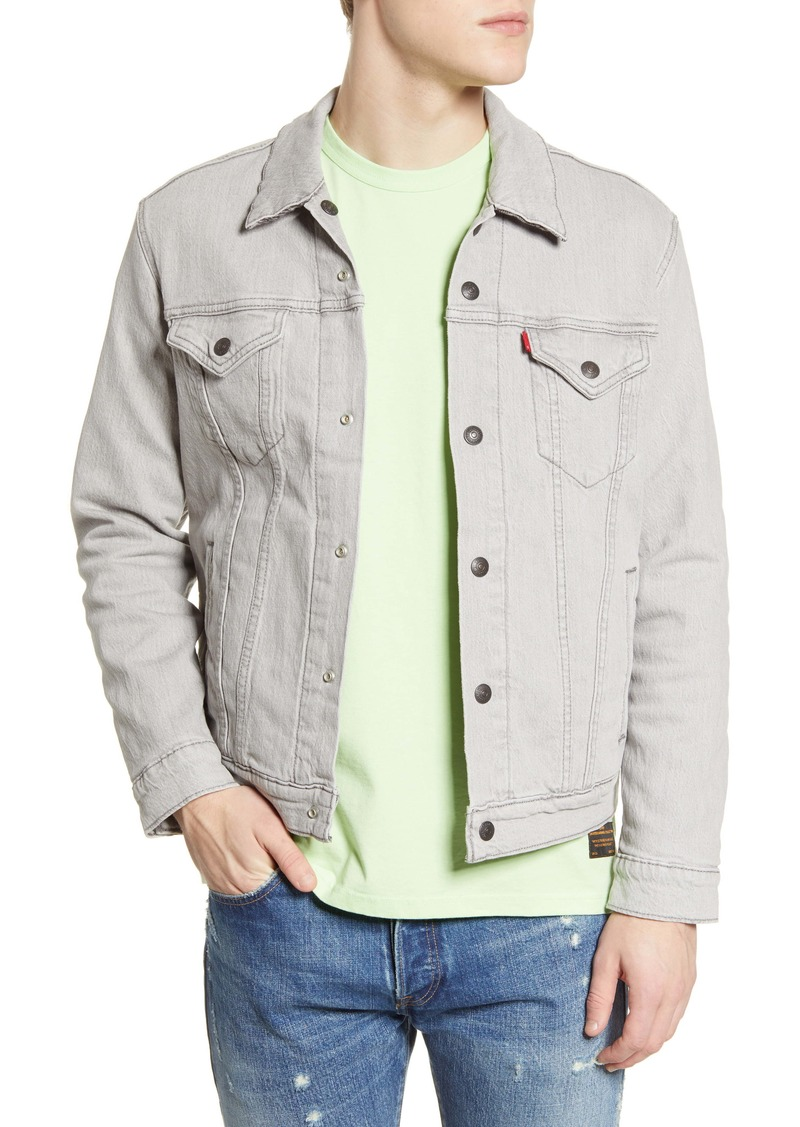 Levi's® Reversible Flannel Lined Denim Trucker Jacket