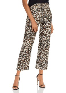 Levi's Ribcage Ankle Stretch Pants in Gehu Leopard Corduroy
