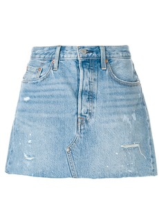 Levi's ripped denim skirt - Blue