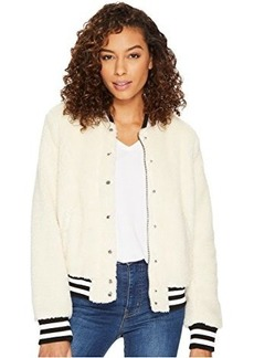 Levi's® Sherpa Bomber with Striped Rib Knit