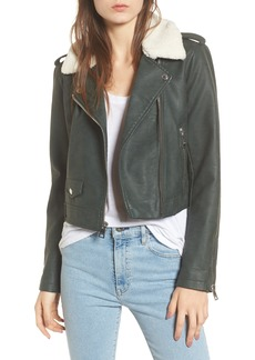 Levi's Levis® Sherpa Faux Leather Moto Jacket with Faux Fur Collar