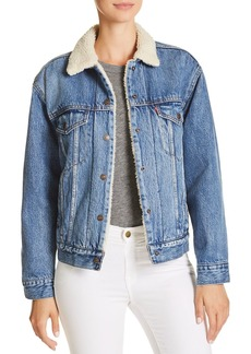 Levi's Sherpa-Trimmed Denim Trucker Jacket