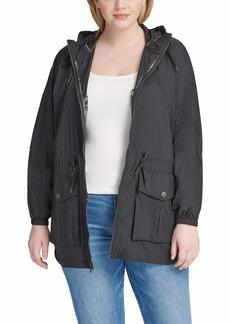 Levi's Women's Plus Lightweight Hooded Cinch Waist Windbreaker (Standard & Plus Size)