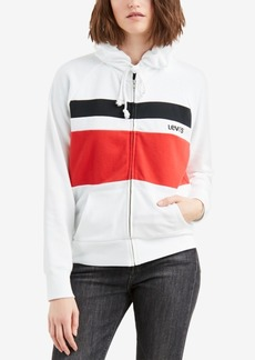 Levi's Striped Zippered Hoodie