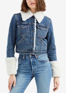 Levi's Styled Fleece Trucker Denim Jacket