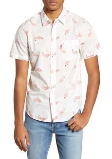 Levi's® Sunset Regular Fit Flamingo Print Short Sleeve Button Up Shirt