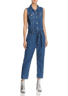 Levi's Tapered Denim Jumpsuit in Delicate Condition