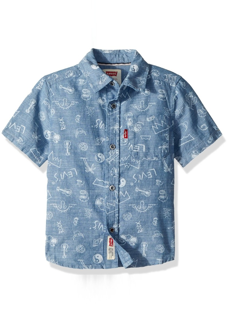 5173144a1 Toddler Short Sleeve Button Down Shirts - DREAMWORKS