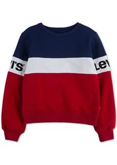 Levi's Toddler Girls Colorblocked Fleece Sweatshirt