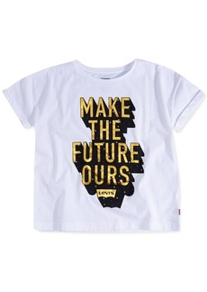Levi's Toddler Girls Cotton Make The Future Ours T-Shirt