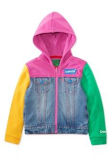 Levi's Toddler Girls Crayola Hooded Colorblocked Denim Trucker Jacket