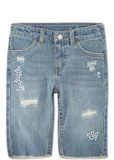 Levi's Toddler Girls Distressed Denim Bermuda Shorts