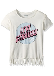 Levi's Toddler Girls' Fringe Hem Graphic T-Shirt