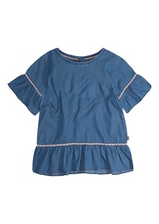 Levi's Toddler Girls' Short Sleeve Ruffle Top