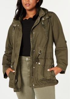 Levi'sTrendy Plus Size Lightweight Parachute Cotton Hooded Fishtail Jacket