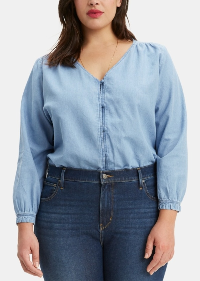 Levi's Trendy Plus Size Zalikha Denim Top