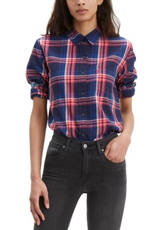 Levi's Women's Ultimate Cotton Plaid Button-Back Shirt