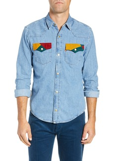 Levi's® Vintage Clothing 1970s Slim Fit Denim Shirt