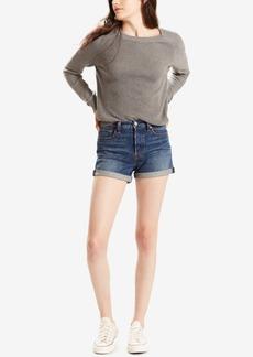 Levi's Wedgie Dark Blue Wash Denim Shorts