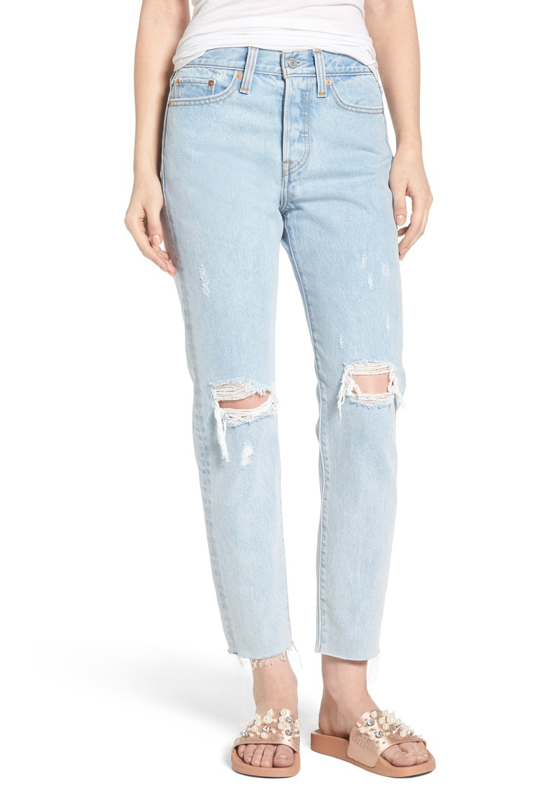 677ebe70 Levi's Levi's® Wedgie High Waist Crop Jeans (Kiss Off) Now $58.80