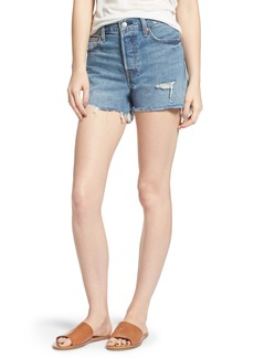 Levi's® Wedgie High Waist Cutoff Denim Shorts (Blue Your Mind)