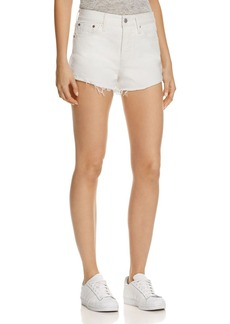 Levi's Wedgie Selvedge Cutoff Denim Shorts in Busted Chalk