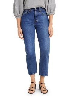 Levi's Wedgie Straight Cropped Jeans in Market Stance