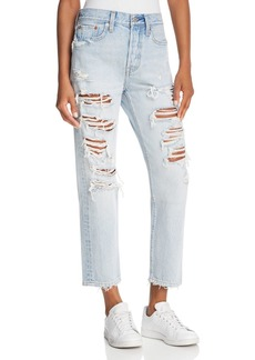 Levi's Wedgie Straight Jeans in Mass Destruction