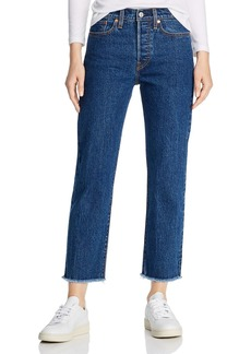 Levi's Wedgie Straight-Leg Cropped Jeans in Below The Belt