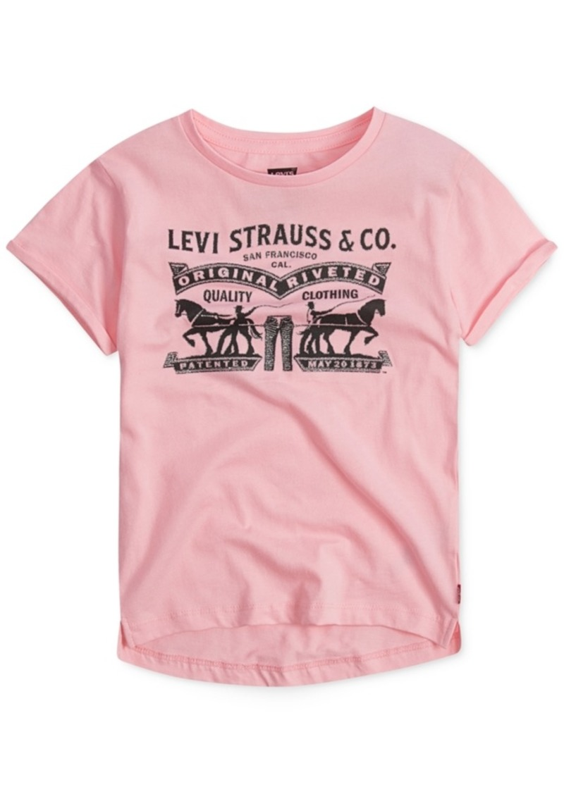 Levis Levis Weekend Printed Cotton T Shirt Little Girls Tshirts