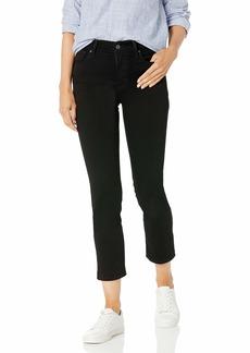 Levi's Women's 724 High Rise Straight Crop Jeans Soft black  (US 10)