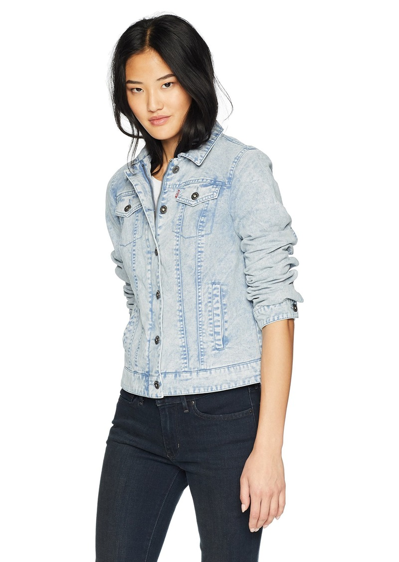 Levi's Womens Acid WASH Classic Cotton Trucker Jacket