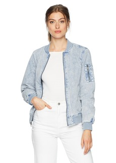 Levi's Women's Acid Wash Cotton Bomber Jacket  S