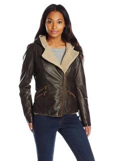 Levi's Women's Assymetrical Sherpa Lined Faux Fur Jacket