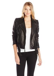 Levi's Women's Asymmetrical Leather Fringe Jacket