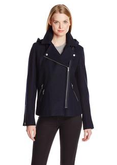 Levi's Women's Asymmetrical Motorcycle Wool Coat