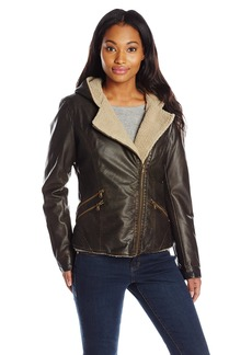 Levi's Women's Asymmetrical Sherpa Lined Faux Fur Jacket