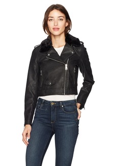 Levi's Women's Belted Assymetrical Motorcycle Jacket  Extra Large