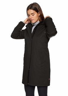 Levi's Women's Bunny Sherpa Lined Hooded Coaches Parka Jacket black