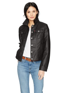 Levi's Women's Classic Faux Leather Trucker Jacket  Extra Small