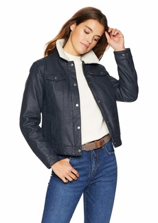 Levi's Women's Classic Sherpa Lined Trucker Jacket Navy/Cream