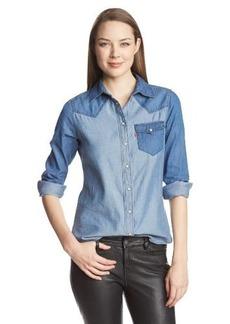Levi's Women's Color Block Chambray Annie Denim Shirt