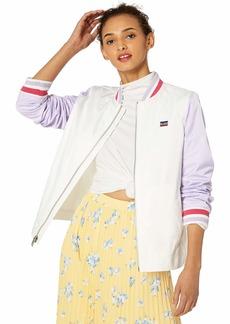 Levi's Women's Colorblocked Poly Satin Retro Bomber Jacket