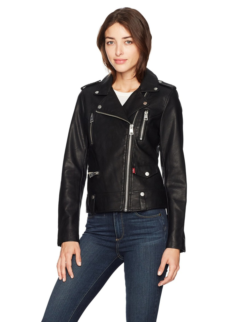 Levi's Women's Contemporary Asymmetrical Motorcycle Jacket  Extra Small