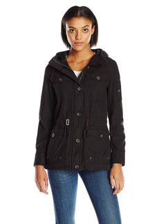 Levi's Women's Cotton Four Pocket Hooded Field Jacket black XL