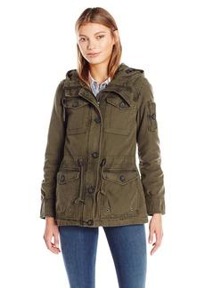 Levi's Women's Cotton Four Pocket Hooded Field Jacket  L