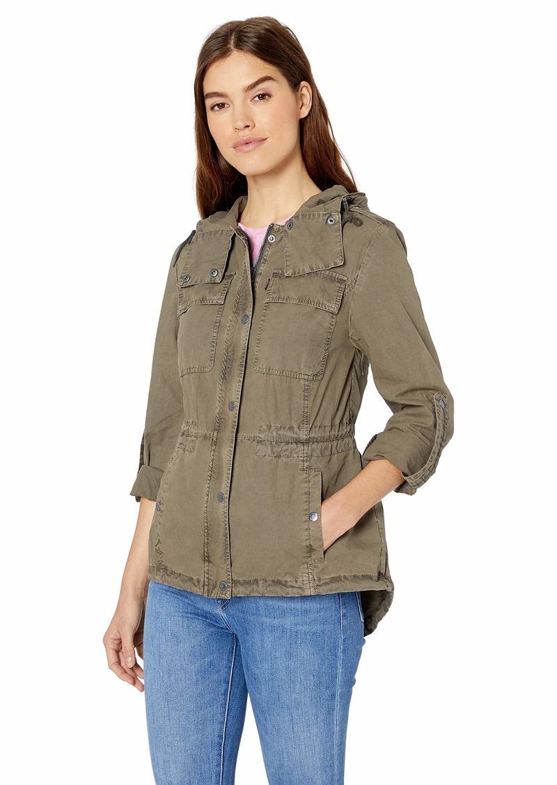 Levi's Women's Cotton Lightweight Fishtail Hooded Military Jacket