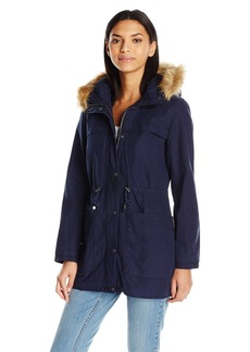 Levi's Women's Cotton Parka with Faux Fur Hood & Sherpa  L
