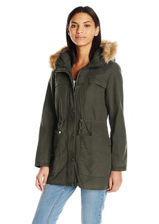 Levi's Women's Cotton Parka With Faux Fur Hood and Sherpa  XL