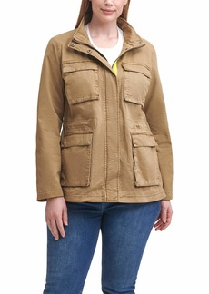 Levi's Women's Cotton Twill Stand Collar Military Jacket   XS